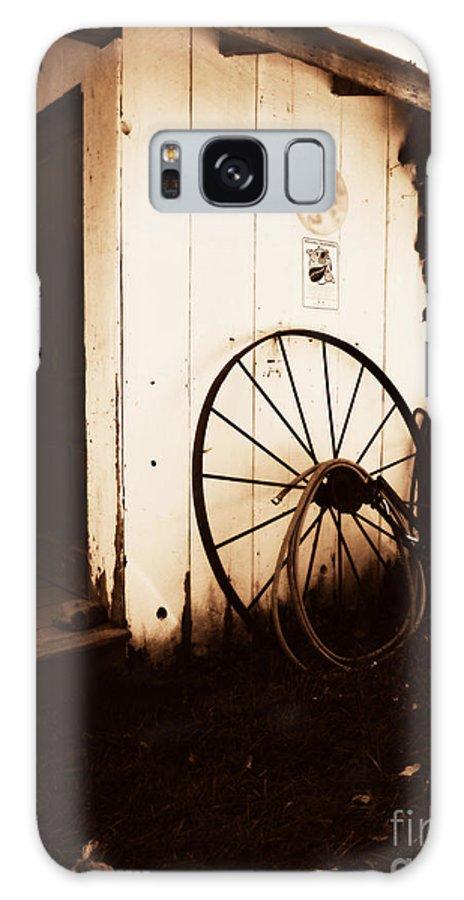 Daguerrotype Art Photography Galaxy S8 Case featuring the photograph Wagon Wheel by Deborah Fay