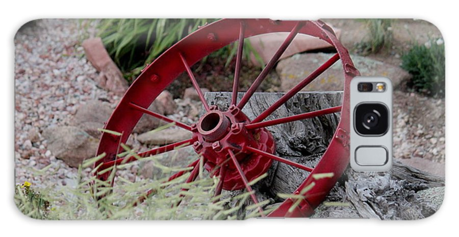 Wagon Galaxy S8 Case featuring the photograph Wagon Wheel by Trent Mallett
