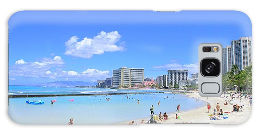 Beach Galaxy S8 Case featuring the photograph Waikiki Beach by Mary Deal