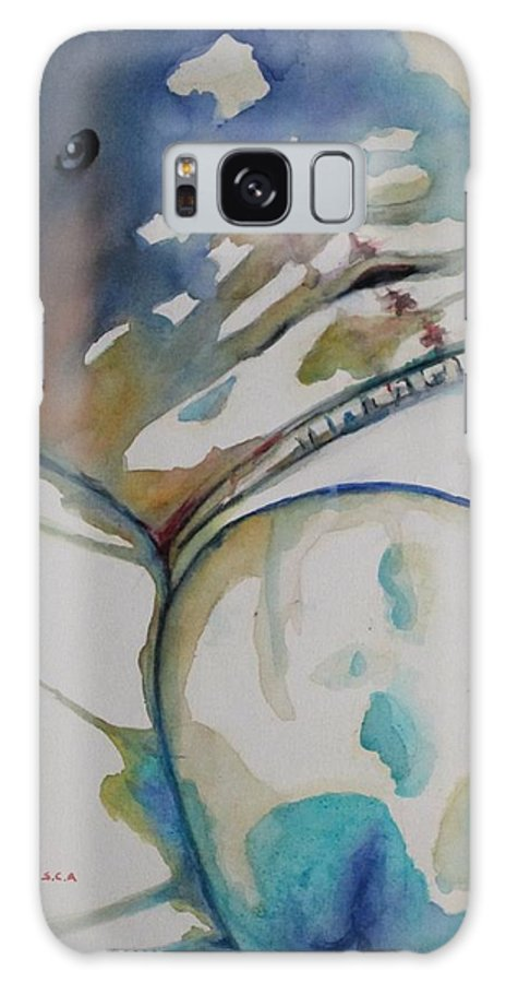Gay Art Galaxy S8 Case featuring the painting Waiting For You by Michel Jutras