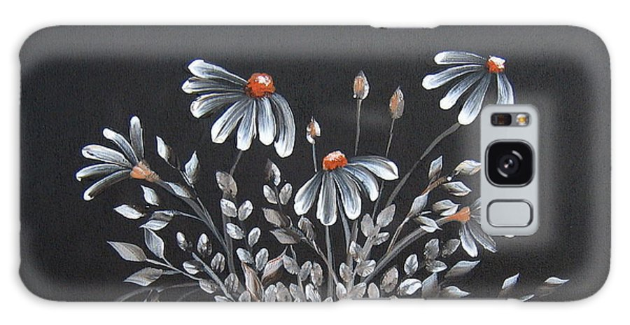 Flowers Galaxy S8 Case featuring the painting Wake Up And See The Flowers by Suzanne Theis