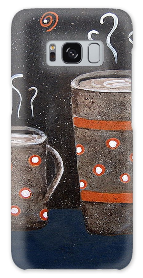 Coffee Galaxy S8 Case featuring the painting Wake Up And Smell The Coffee by Suzanne Theis