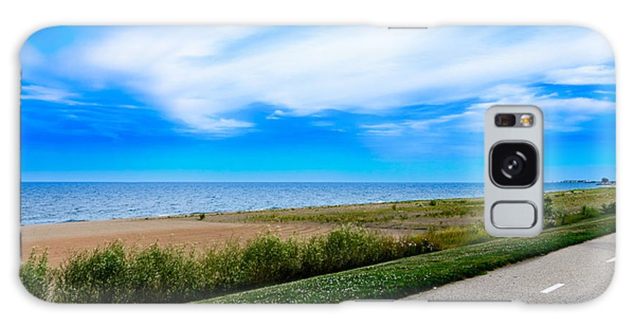 Lake Michigan Galaxy S8 Case featuring the photograph Walking Down A Path by Steven Santamour