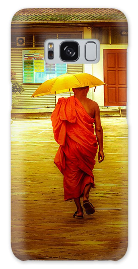 Monk Galaxy Case featuring the photograph Walking In The Sun by Allan Rufus