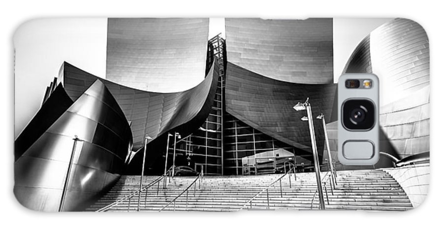 America Galaxy S8 Case featuring the photograph Walt Disney Concert Hall In Black And White by Paul Velgos