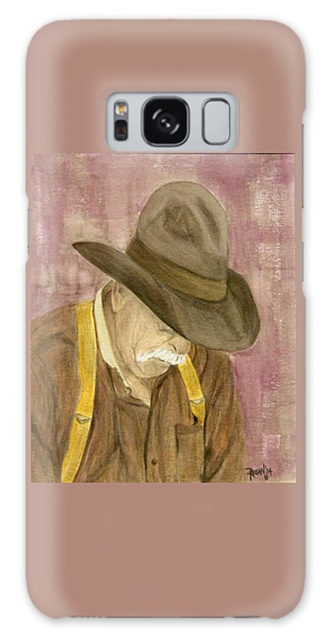 Western Galaxy S8 Case featuring the painting Walter by Regan J Smith