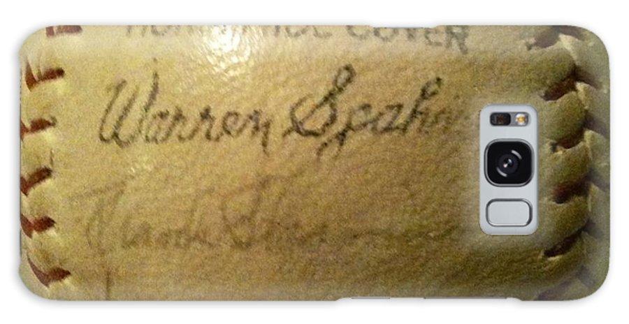 Warren Spahn Galaxy S8 Case featuring the photograph Warren Spahn Baseball Autograph by Lois Ivancin Tavaf