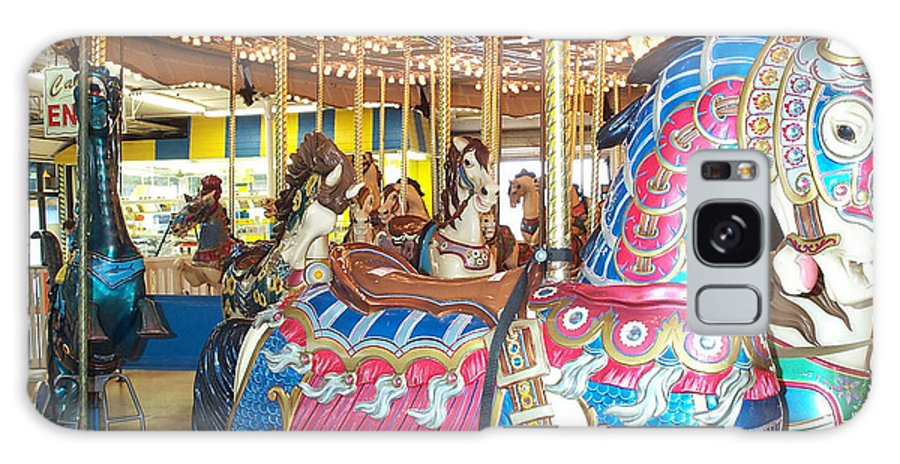 Carousel Horse Galaxy S8 Case featuring the photograph Warrior by Barbara McDevitt