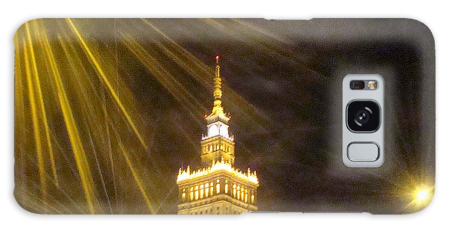 Downtown Warsaw Poland Galaxy S8 Case featuring the photograph Warsawa Poland by Roger Rabiego