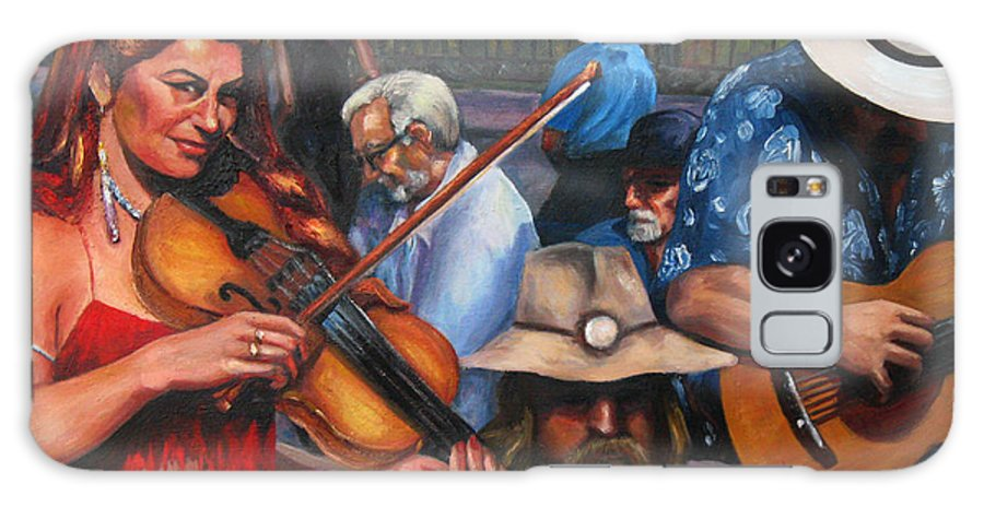 New Orleans Galaxy S8 Case featuring the painting Washboard Lissa On Fiddle by Beverly Boulet