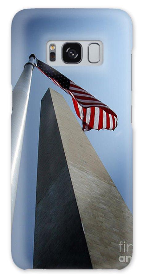 Washington Galaxy S8 Case featuring the photograph Washington Monument by CK Caldwell