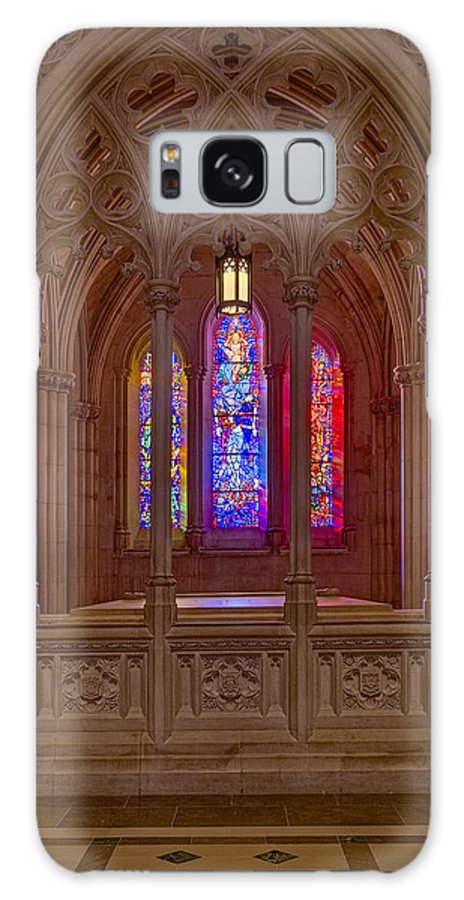 Washington Cathedral Galaxy S8 Case featuring the photograph Washington National Cathedral Colors by Susan Candelario