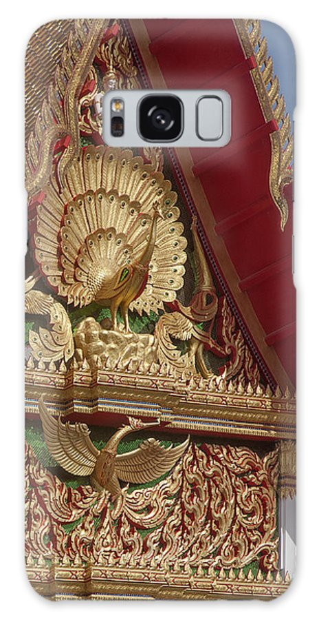 Scenic Galaxy S8 Case featuring the photograph Wat Luang Pu Supa Ubosot Gable Dthp330 by Gerry Gantt