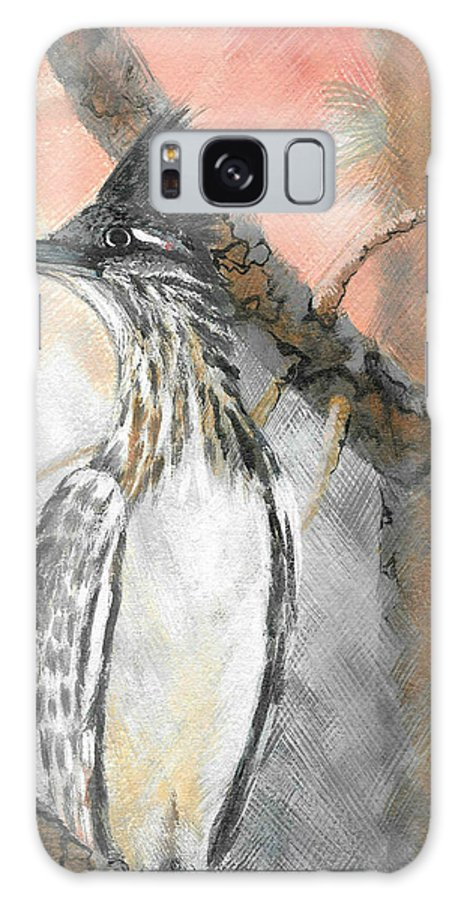 Road Runner Galaxy S8 Case featuring the painting Watchful Me by Brenda L Baker
