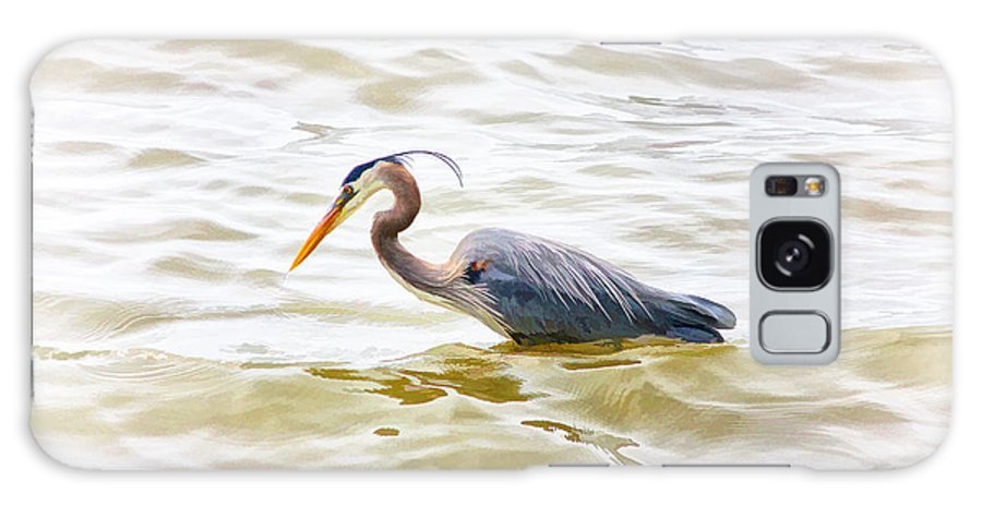 Great Blue Heron Galaxy S8 Case featuring the photograph Watching And Waiting by Ola Allen