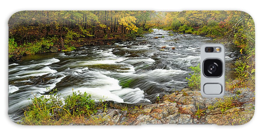 Beaver's Bend State Park Galaxy S8 Case featuring the photograph Watching It All Go By At Beaver's Bend Broken Bow Fall Foliage Oklahoma by Silvio Ligutti