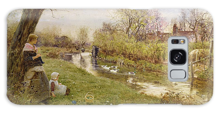 Watching The Ducks Galaxy S8 Case featuring the painting Watching The Ducks by Thomas James Lloyd