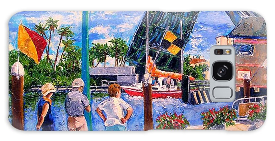Florida Scenes Galaxy S8 Case featuring the painting Watching The Red Boat by Janet Villasmil