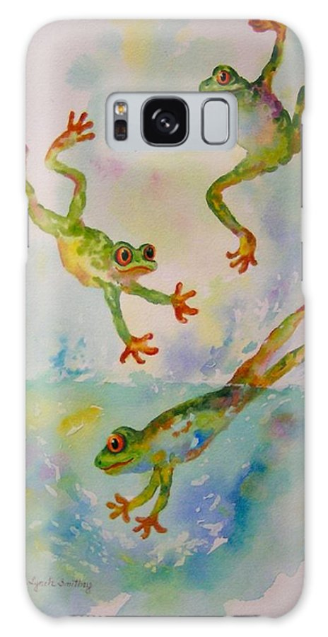 Frogs Galaxy S8 Case featuring the painting Water Aerobics by Judy Lynch-Smithey