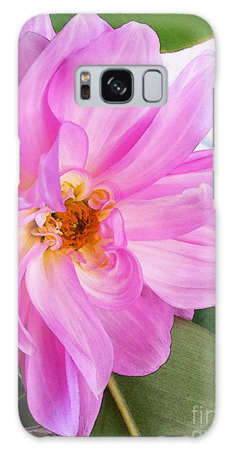 Dahlia Galaxy S8 Case featuring the photograph Water Color Dahlia by Cynthia Syracuse