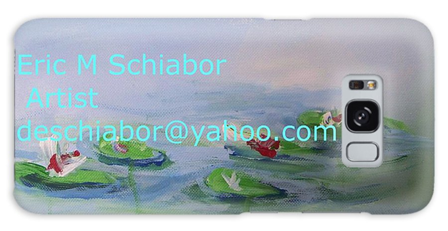 Water Lilies Galaxy S8 Case featuring the painting Water Lilies Print by Eric Schiabor