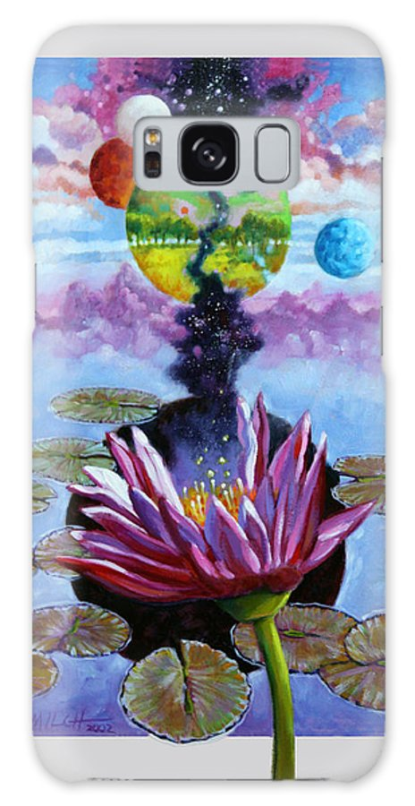 Planets Galaxy S8 Case featuring the painting Water Lily Seeds by John Lautermilch