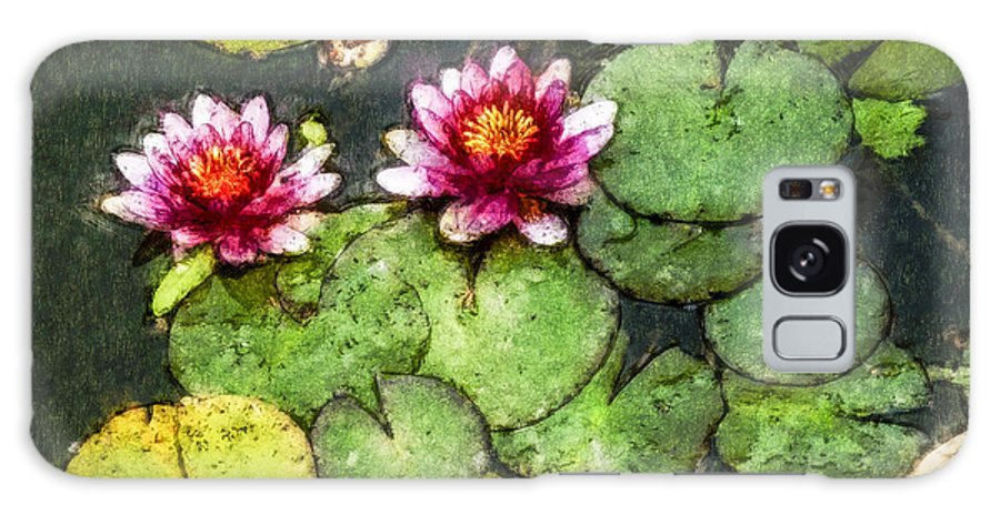 Water Lily Galaxy S8 Case featuring the photograph Water Lily Water Color by David Lange