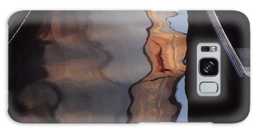 Water Reflections Galaxy S8 Case featuring the painting Water Reflections Abstract by Carol Berning