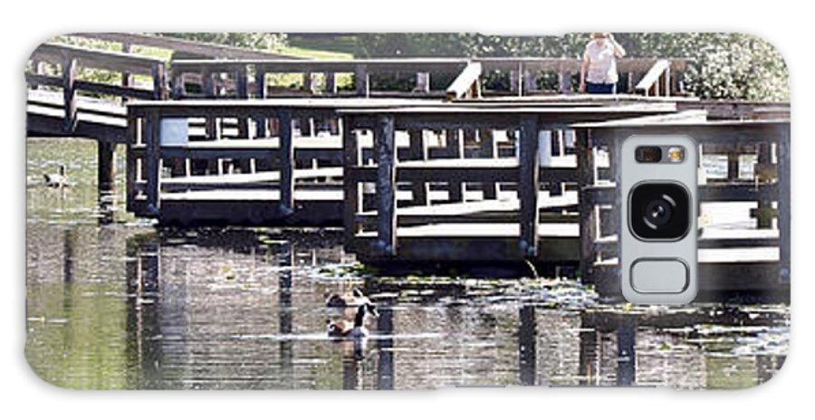 Bridge Galaxy S8 Case featuring the photograph Water Walk by David Fabian