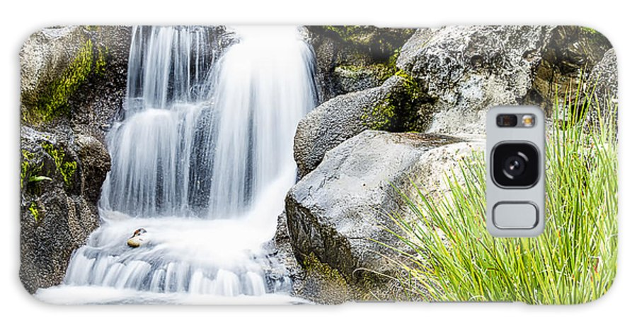Cascade Galaxy S8 Case featuring the photograph Waterfall 4 by Leigh Anne Meeks