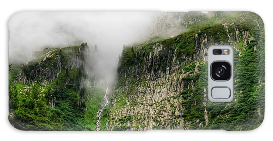 Waterfalls Galaxy S8 Case featuring the photograph Waterfall And Clouds by Julia Fine Art And Photography