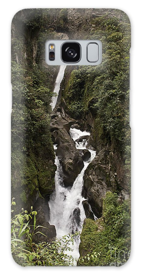 Waterfall Galaxy S8 Case featuring the photograph Waterfall At Banos by Kathy McClure