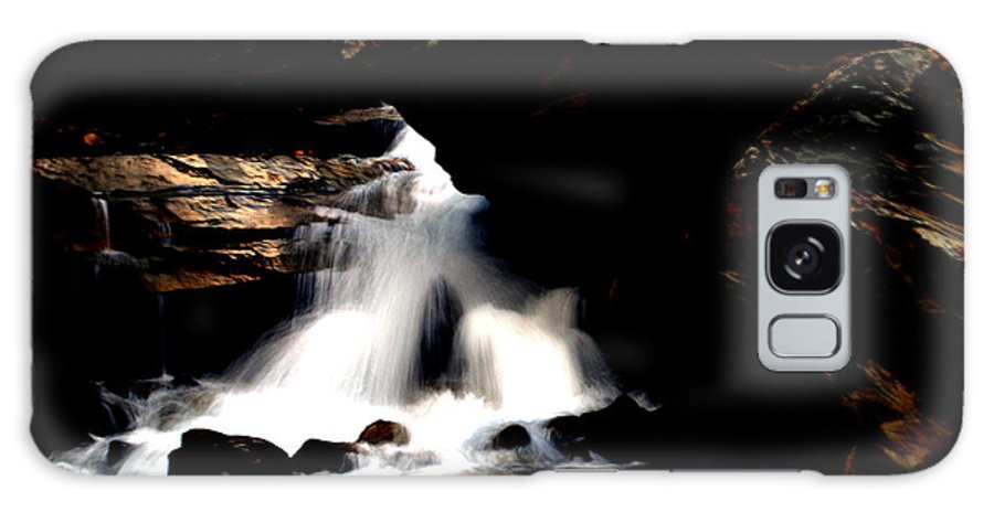 Waterfall Galaxy S8 Case featuring the photograph Waterfall- Viator's Agonism by Vijinder Singh