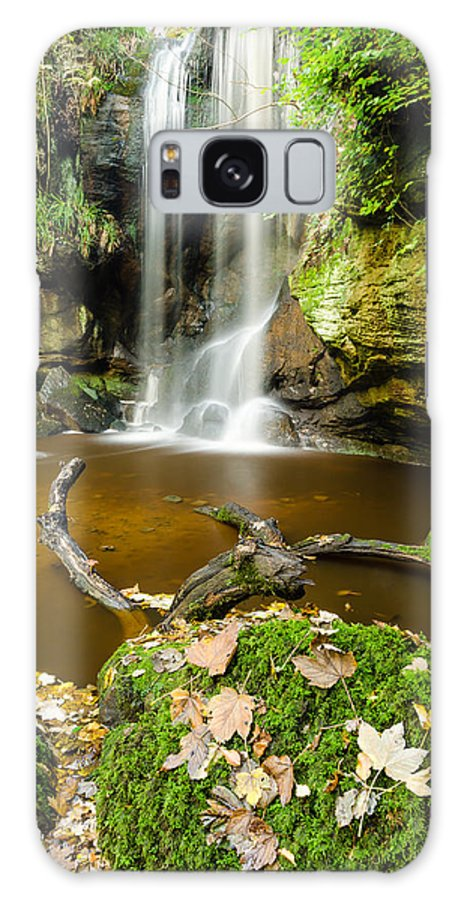 Northumberland Galaxy S8 Case featuring the photograph Waterfall With Autumn Leaves by David Head