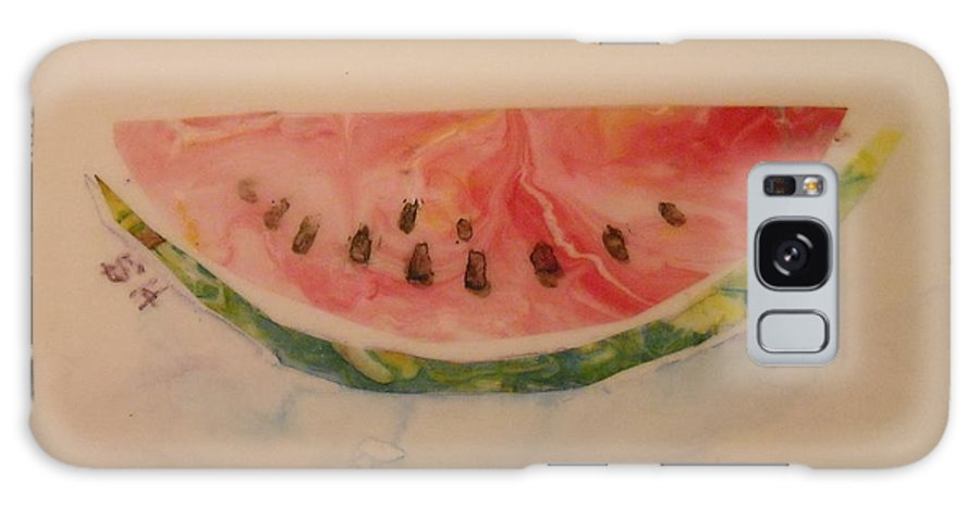 Watermelon Galaxy S8 Case featuring the painting Watermelon by Sheri Hubbard