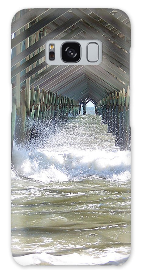 Boardwalk Galaxy S8 Case featuring the photograph Watery Vision by Judy Grindle Shook