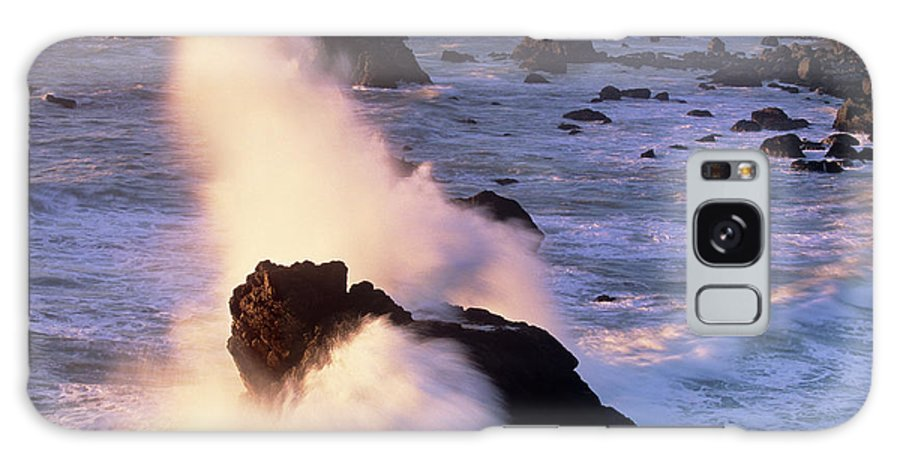 California Galaxy S8 Case featuring the photograph Wave Crashing On Sea Mount California Coast by Dave Welling