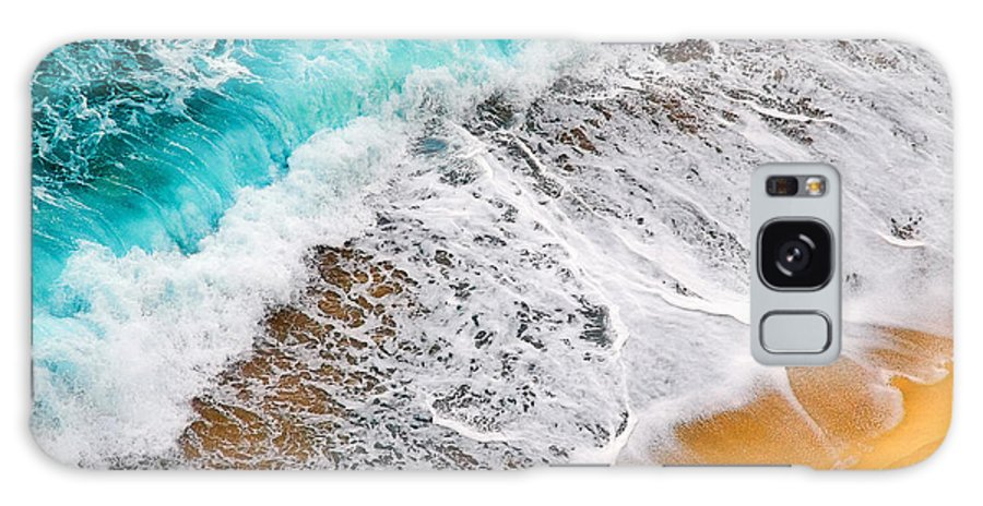 Waves Galaxy S8 Case featuring the photograph Waves Abstract by Silvia Ganora
