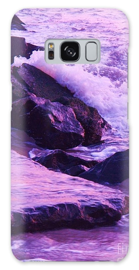 Wave Galaxy S8 Case featuring the photograph Waves Breaking On Jetties by Eric Schiabor