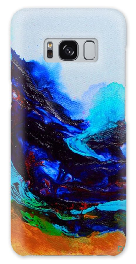 Original Galaxy S8 Case featuring the painting Waves by ElsaDe Paintings
