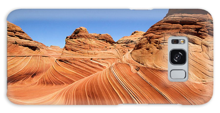The Wave Galaxy S8 Case featuring the photograph Waves Under Buttes by Adam Jewell