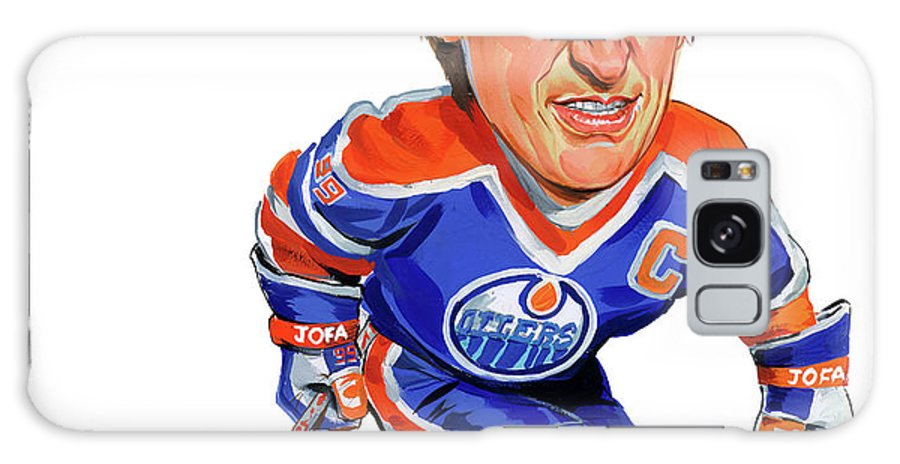 Wayne Gretzky Galaxy S8 Case featuring the painting Wayne Gretzky by Art