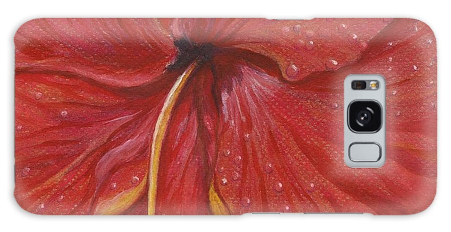 Christmas Cards Galaxy S8 Case featuring the painting We Have Had Rain by Carol Wisniewski