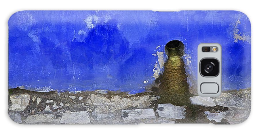 Artistic Galaxy S8 Case featuring the photograph Weathered Blue Wall Of Old World Europe by David Letts
