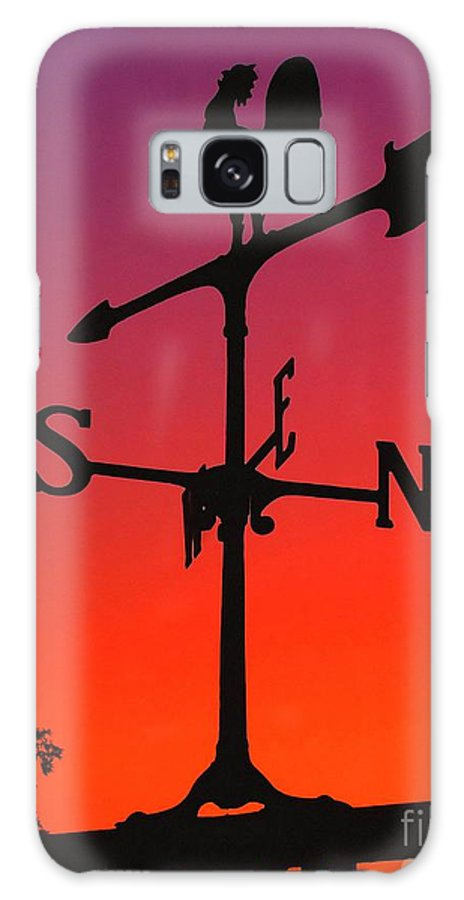 Compass Galaxy S8 Case featuring the photograph Weathervane At Sunset by Nick Zelinsky