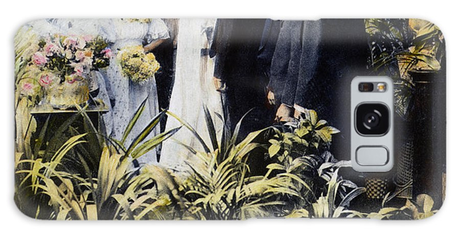 1897 Galaxy S8 Case featuring the photograph Wedding Party, 1897 by Granger