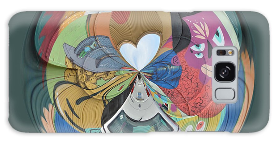 Graffiti Galaxy S8 Case featuring the photograph Weird Orb by Brent Dolliver