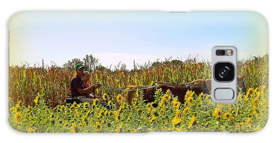 Sunflowers Galaxy S8 Case featuring the photograph Welcome To Gorman Farm In Evandale Ohio by Kathy Barney