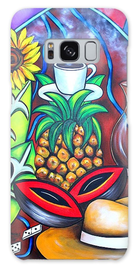 Cuban Paintings Galaxy S8 Case featuring the painting Welcome To Here And Now by Annie Maxwell