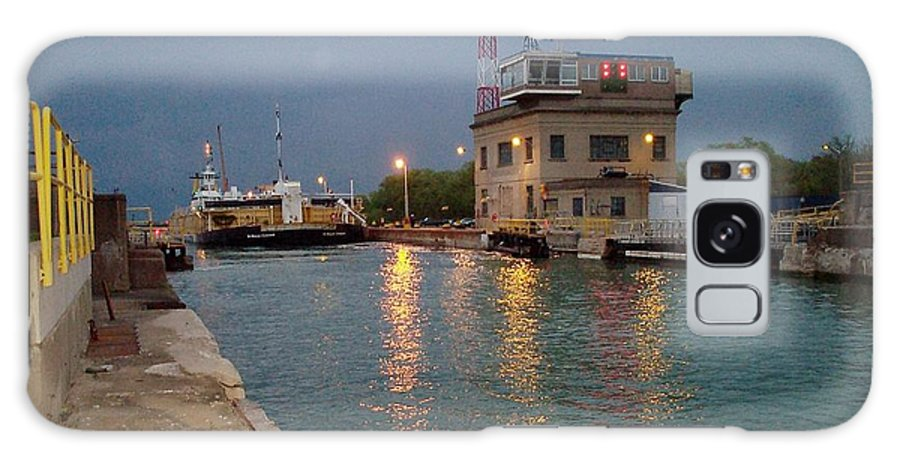 Canal Galaxy Case featuring the photograph Welland Canal Locks by Barbara McDevitt